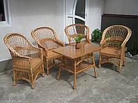 Купить набор плетеной мебели из лозы