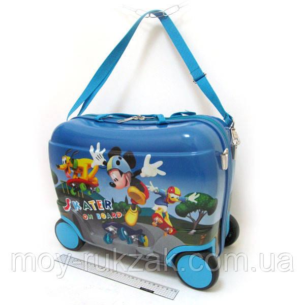 Детский чемодан - каталка на 4 колесах Mickey Mouse, Микки Маус