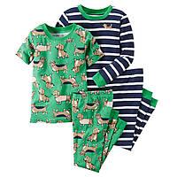 Комплект детских пижам для мальчика Carters Собачки , Размер 18м, Размер 18м