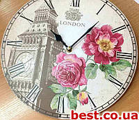 """Настенные часы с символикой, логотипом """"Промо"""" (300х300 мм) [ДВП, Открытые]"""