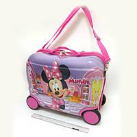 Детский чемодан - каталка на 4 колесах Minnie Mouse, Минни Маус