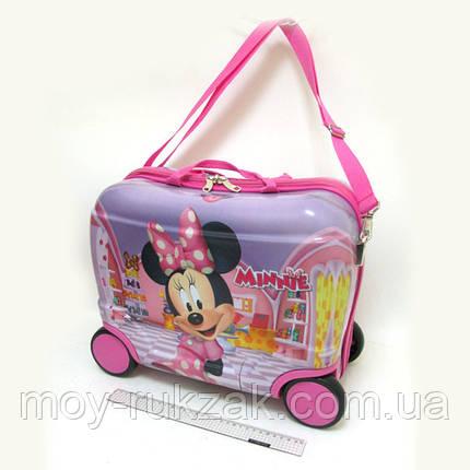 Детский чемодан - каталка на 4 колесах Minnie Mouse, Минни Маус, фото 2