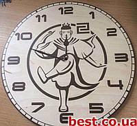 Часы настенные на заказ с логотипом, символикой Dream (330х330 мм) [Натуральное дерево, Открытые]