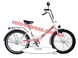 Дорожный велосипед Азимут с фарой 24 дюйма черно-зеленый