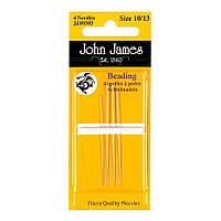 Набор бисерных игл John James (Англия) / Beading №10 (4шт)