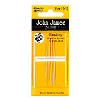 Набор бисерных игл John James (Англия) / Beading №12 (4шт)