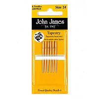 Набор гобеленовых игл John James (Англия) / Tapestry/Cross Stitch №24 (6шт)