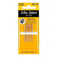 Набор гобеленовых игл John James (Англия) / Tapestry/Cross Stitch №22 (6шт)
