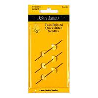 Набор двусторонних гобеленовых игл John James (Англия) / Twin Pointed Quick Stitch №22/24/26 (3шт)