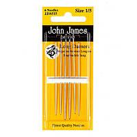 Набір довгих штопальних голок John James (Англія) / Long Darners №1/5 (6шт)