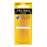 Набір довгих штопальних голок John James (Англія) / Long Darners №3/9 (6шт)