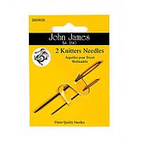 Набор игл для вязальщиц John James (Англия) / Knitters (2шт)