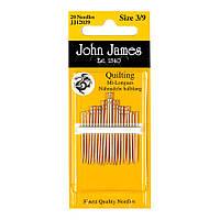 Набор квилтинговых игл John James (Англия) / Beetween/Quilting №8 (20шт)