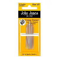 Набор коротких штопальных игл John James (Англия) / Short Cotton Darners №7 (12шт)
