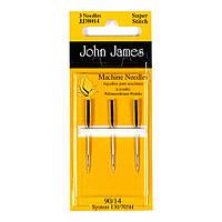 Набор машинных игл Джерси John James (Англия) / Superstitch(Jersey) Sewing Machine №14(90) (3шт)