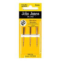 Набор машинных игл Джинс John James (Англия) / Jeans Sewing Machine №16(100) (3шт)