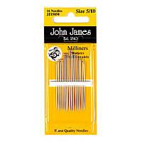 Набор шляпных игл John James (Англия) / Milliners №7 (16шт)