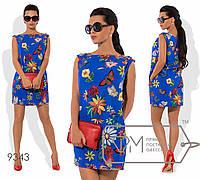 """Женское летнее прямое платье""""Zaira""""размер 42,44,46"""