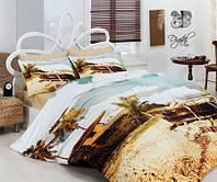 Евро комплект постельного белья Сатин Delux Ada, Турция