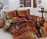 Евро комплект постельного белья Сатин Delux Hazan, Турция