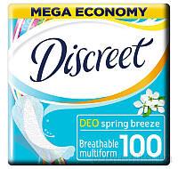 Ежедневные гигиенические прокладки Discreet Deo Spring Breeze Multiform 100 шт