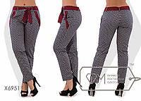 Женские коттоновые брюки, пояс лен размер 48,50,52,54