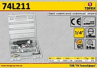 Машина шлифовальная прямая, набор шлифкамней,  TOPEX  74L211