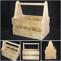 Деревянный декоративный ящик под пиво, 28х18х28 см., 210/180 (цена за 1 шт. + 30 гр.)