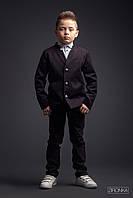 """Школьный пиджак для мальчика """"Black"""" Zironka"""