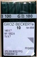 Голка Groz-Beckert 149x7, MY1002A, TVx7 FFG для ланцюгового стібка 10 шт/уп