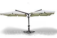 Зонт Дабл Эксель, зонт для кафе, зонт для сада, зонт для бассейна, зонт для пляжа, деревянный зонт