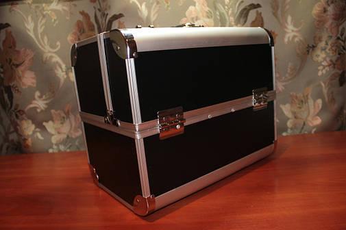 Кейс для мастеров красоты, черный матовый в металле, фото 2