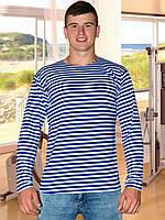 Мужская футболка (тельняшка) (Голубой, синий)