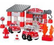Конструктор Скоростное авто Пожарное депо Abrick Ecoiffier 003080