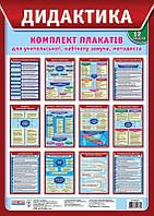 Дидактика. Комплект плакатов для учительской, кабинета зауча, методиста. Укр
