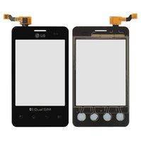 Сенсорный экран для мобильного телефона LG E405 Optimus L3, черный