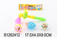 Погремушка в ручку 331 1262412 360шт2 набор 3 шт., в пакете 1794см