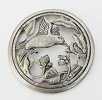 Панно, сюжетная картина, птичка, олово, Германия