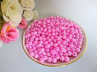 Бусины перламутровые под жемчуг, 6 мм, цвет розовый, 10 грамм, (~100 шт).