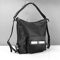 Сумка-рюкзак Gilda Tohetti женская оригинальная черного цвета на плечо