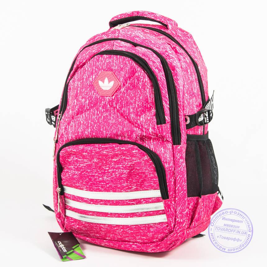Оптом спортивный рюкзак Adidas - розовый - 8219, фото 2