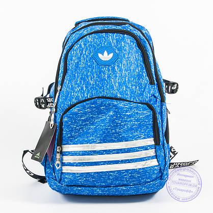 Оптом спортивный рюкзак Adidas - голубой - 8219, фото 2