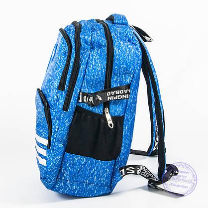 Оптом спортивный рюкзак Adidas - голубой - 8219, фото 3