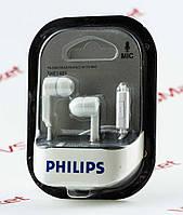 Наушники Philips SHE-1405 с микрофоном белые