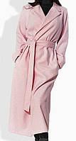 Стильное розовое пальто