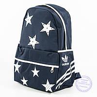 Оптом спортивный рюкзак Adidas - синий - 2036