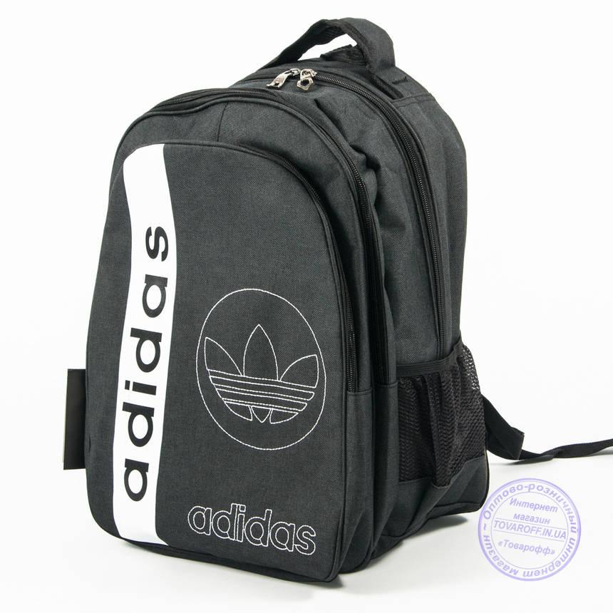 Оптом спортивный рюкзак Адидас - т. серый - 963, фото 2