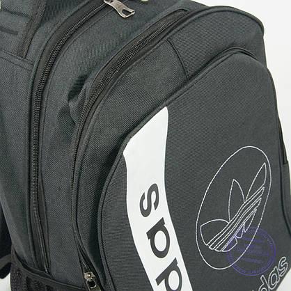 Оптом спортивный рюкзак Адидас - т. серый - 963, фото 3