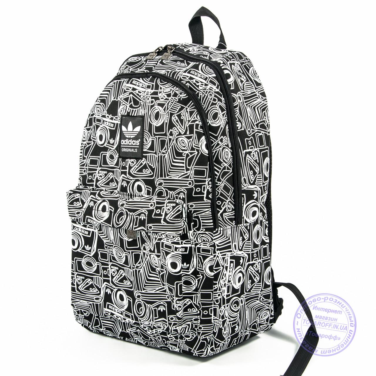 7cdfb9a39f6a Оптом спортивный рюкзак Adidas - черный - 605 - купить по лучшей ...