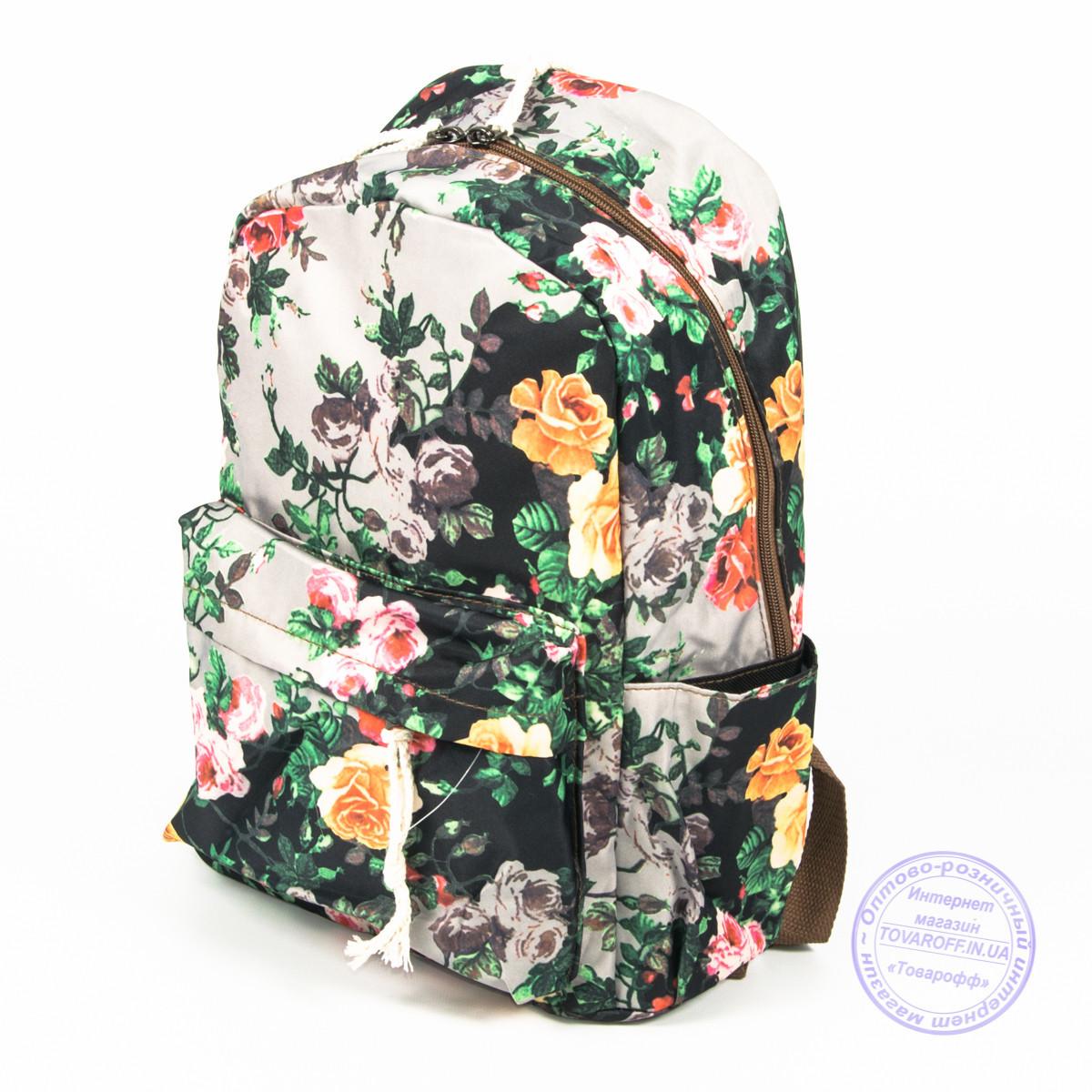 Оптом цветочный рюкзак для девочек - 024